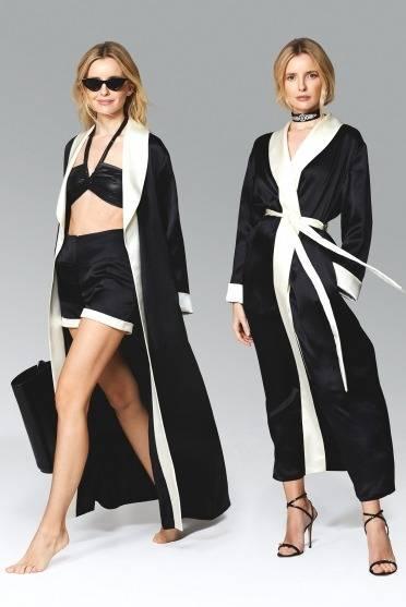 Silk set robe + shorts