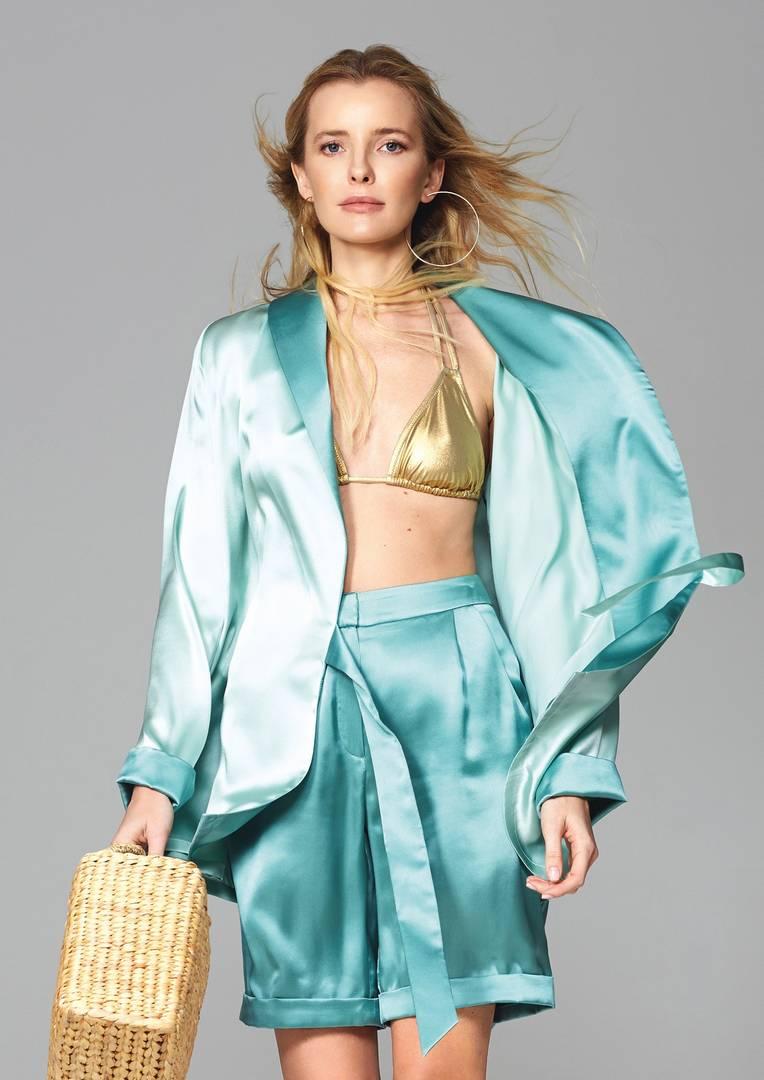 Silk set kimono