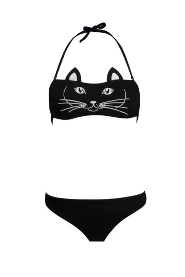 Bikini Cat face + kids