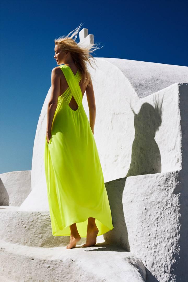 Long dress Neon
