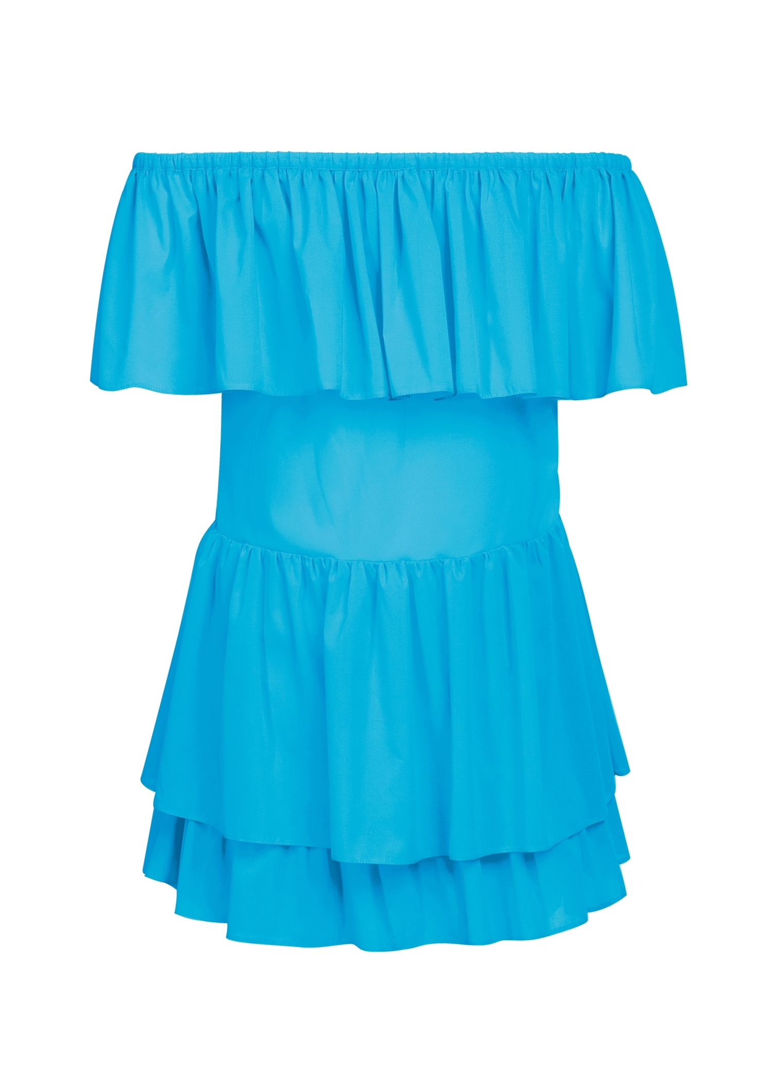 Long ruffle dress + kids