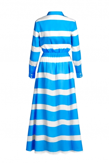Dress wide stripes with Logo