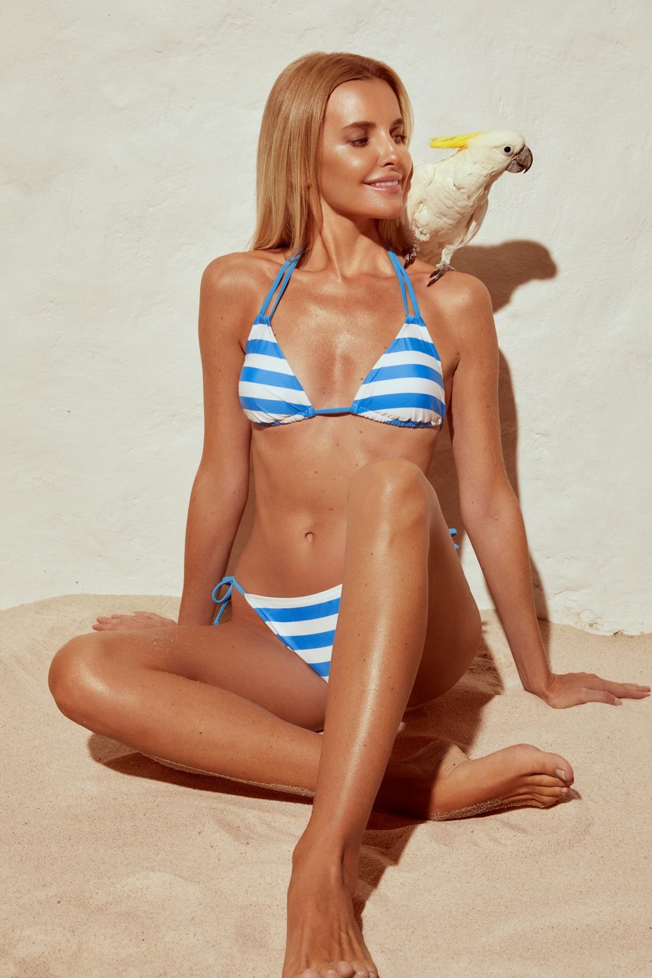 Teeny bikini wide stripes