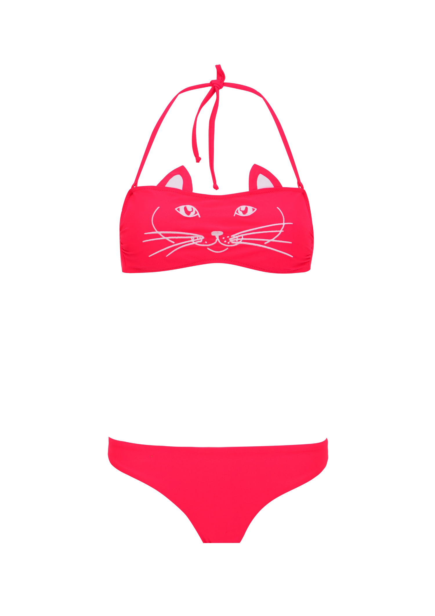 Bikini Cat face + kids