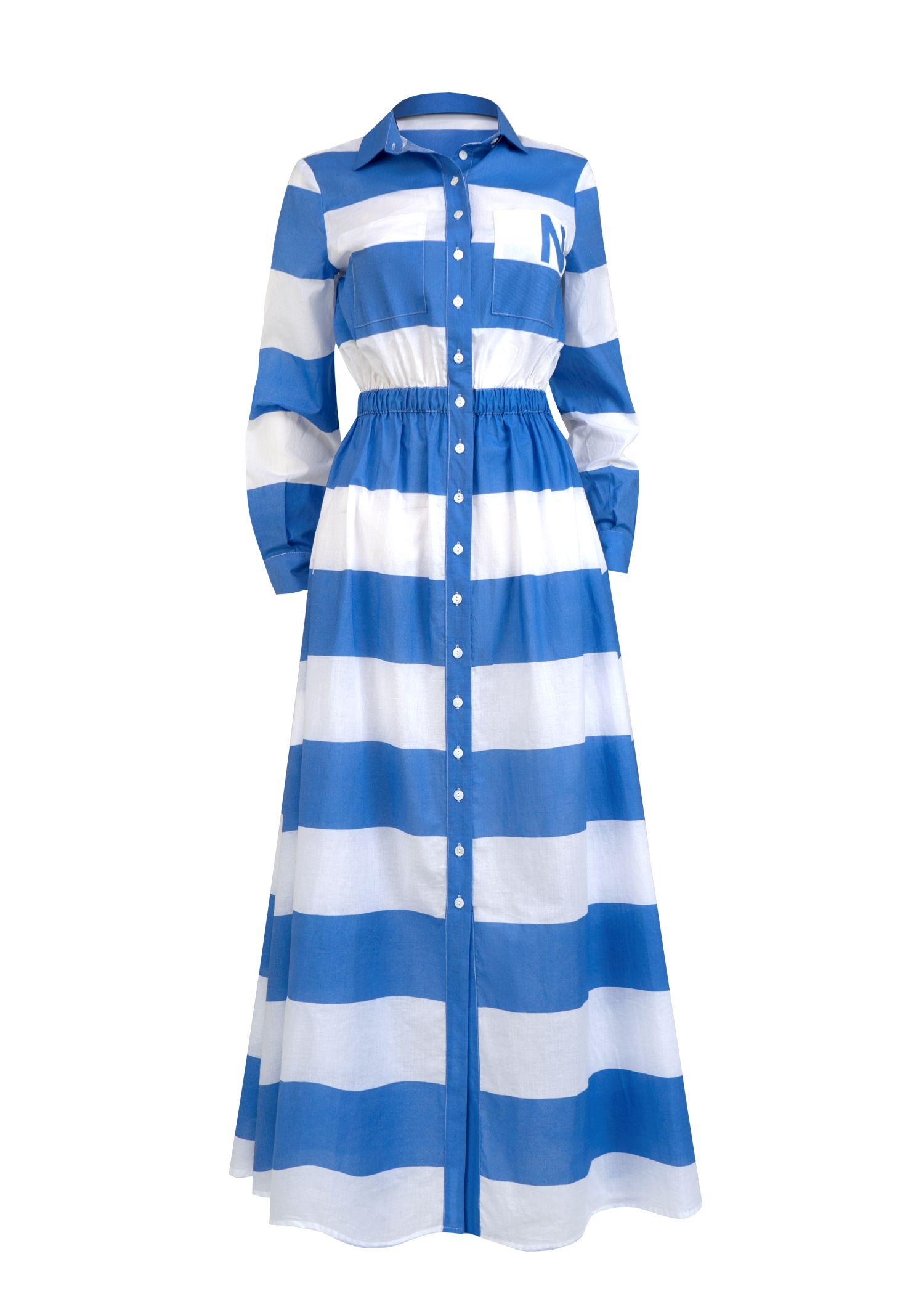 Dress wide stripes with Logo