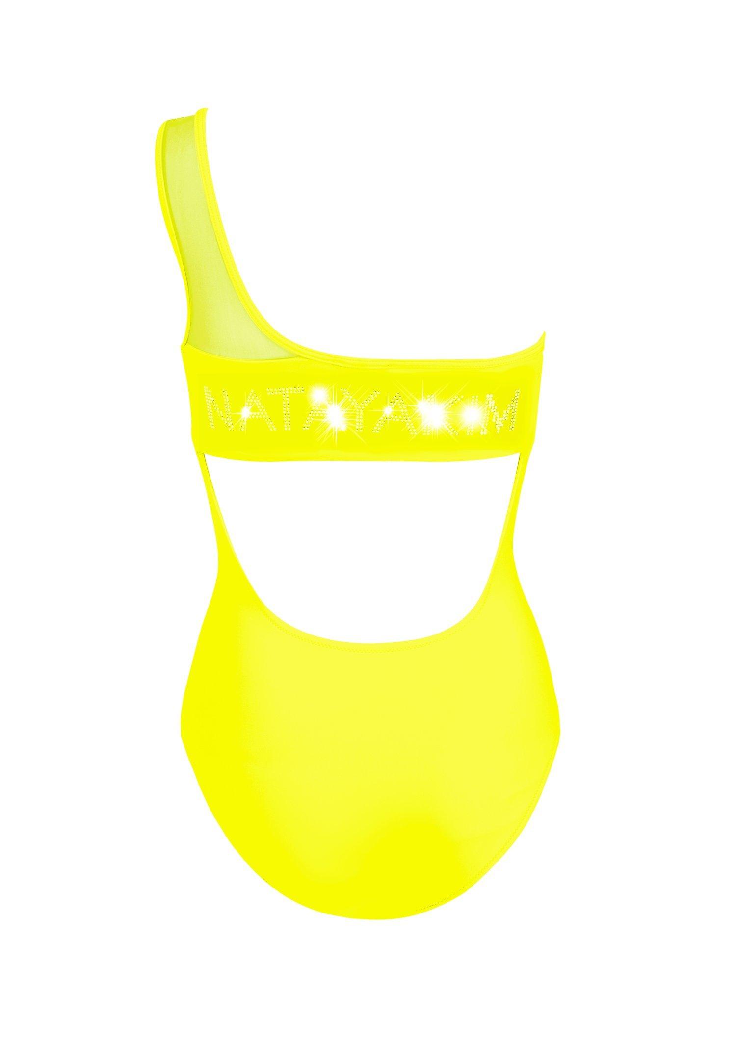 One-shoulder net Strasses Logo